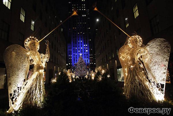 Нью Йорк - Рокфелер цент - Рождество и Новый Год 2011