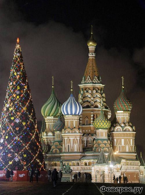 Москва - Красная площадь - Рождество и Новый Год 2011