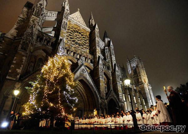 Лондон - Вестминстерское аббатство - Рождество и Новый Год 2011