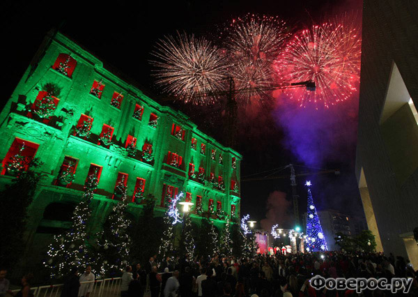 Новогодний парад в Бейруте - Рождество и Новый Год 2011
