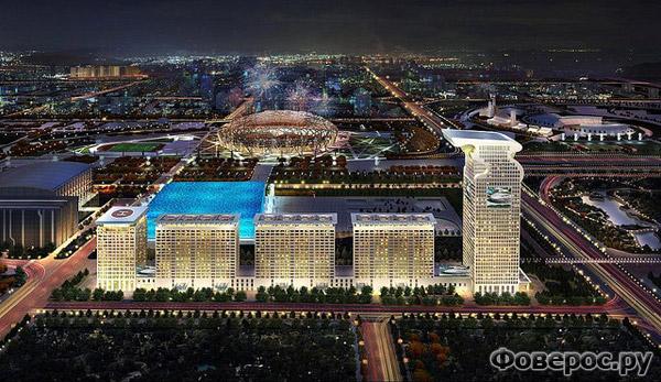 Пангу Плаза - Отель 7 звёзд символ Дракона - Пекин Китай