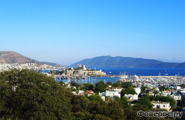 Бодрум - Вид с горы на город - Турция