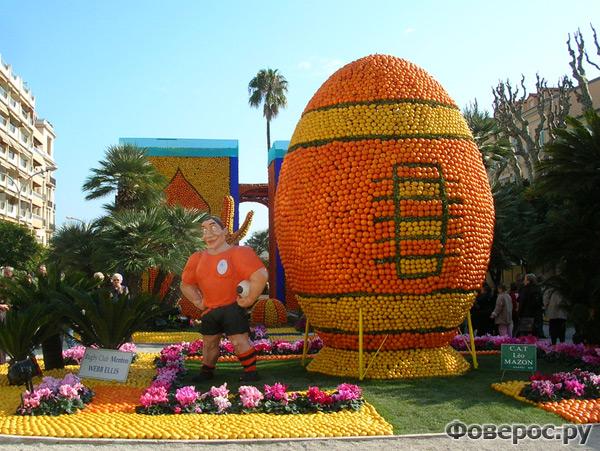 Фете Ду Цитрон - Цитрусовый фестиваль в Ментоне (Франция) - Регби из апельсинов и лимонов