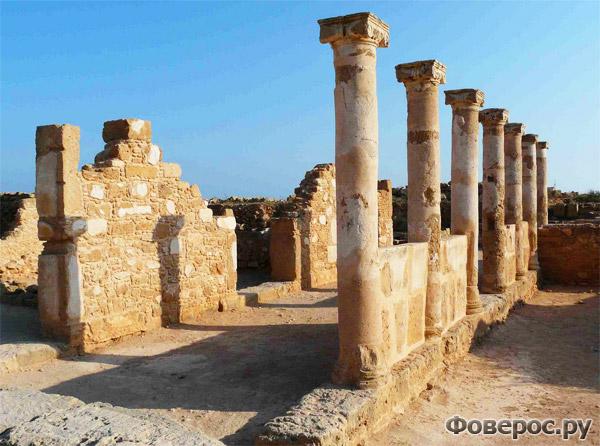 Пафос - Старый античный город - Остров Кипр