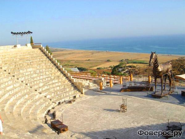 Пафос - Каменный амфитеатр в Курион - Остров Кипр