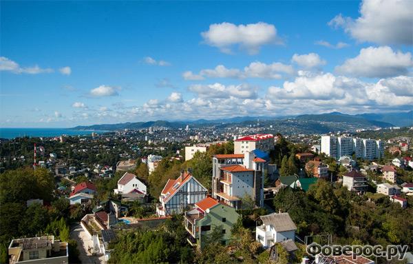 Панорамный вид на город Сочи - Россия