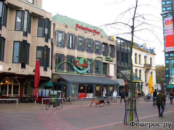 Вехел (Veghel) - Город в Голландии (Netherlands) - Улица с магазинами