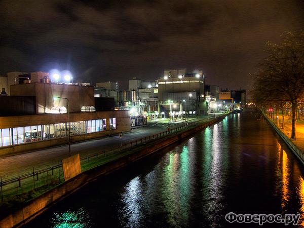 Вехел (Veghel) - Город в Голландии (Netherlands) - Ночной вид