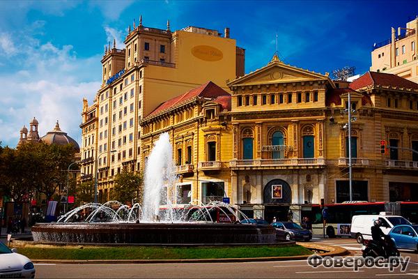 Площадь города Барселона
