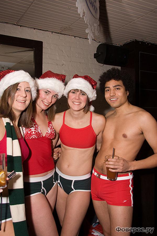 Santa Speedo Run в Бостоне