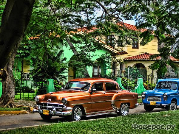 Варадеро, Куба. Раритетный автомобиль