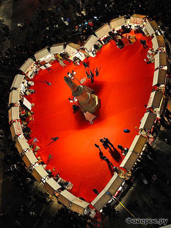 Празднование дня Св. Валентина в Вероне, Италия