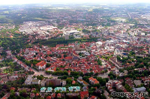 Оснабрюк, Германия с высоты птичьего полета
