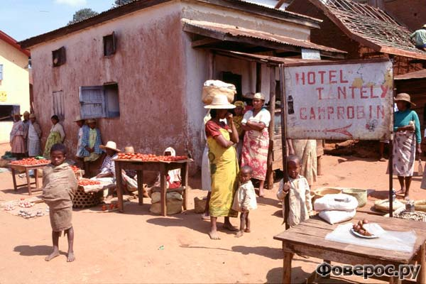 Местная гостиница в городке Иоси, Мадагаскар
