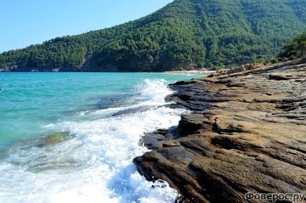 Тасос: Скалы, берег