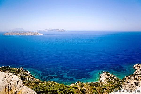 Родос: Вид с берега на море