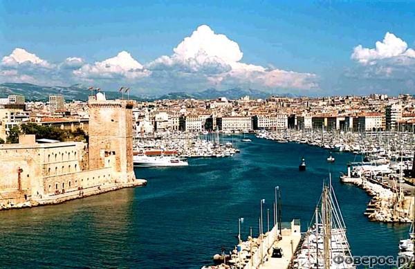 Марсель - Вид на город и порт