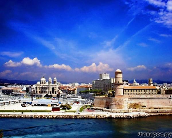 Марсель - Вид на город с моря