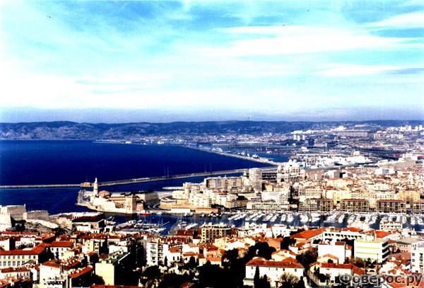 Марсель - Вид на город сверху