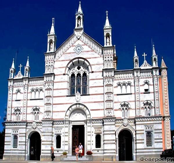 Монталлегро - Фасад церкви в Монталлегро, Рапалло, XIX в.